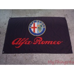 Alfa Romeo Flag - Black