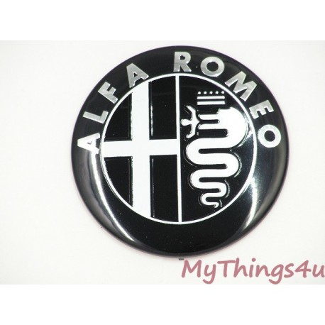 Alfa Romeo front-tail Emblem 74mm BLACK-WHITE