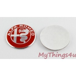 Alfa Romeo Emblem 40mm RED-SILVER
