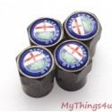 Alfa Romeo Tire Valve Dust Caps - BLACK-CLASSIC