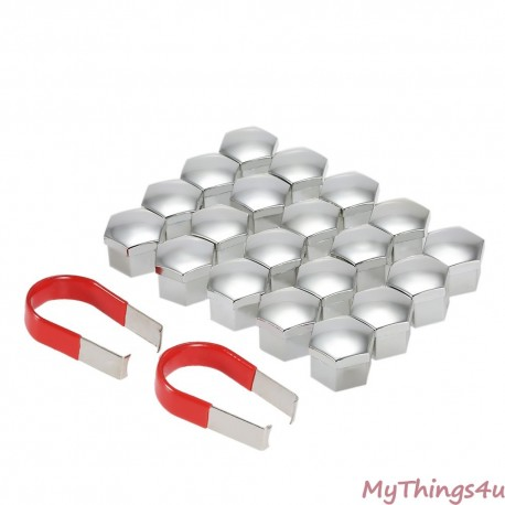 Wheel Bolt Caps 19mm - SILVER