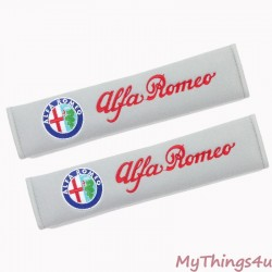 Alfa Romeo Embroidered  Safety Belt Covers Set Italics