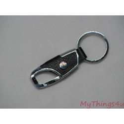 Keychain Alfa Romeo - Leather-Chrome
