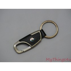 Keychain Alfa Romeo - Leather-Classic Bronze
