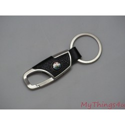 Keychain Alfa Romeo - Leather-Brushed Aluminum