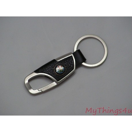 Sleutelhanger Alfa Romeo - Leather-Brushed Aluminum