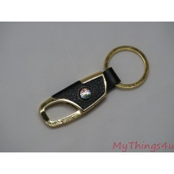 Keychain Alfa Romeo - Leather-Gold