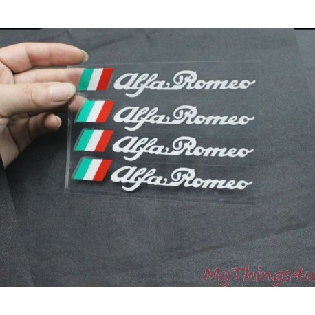 Alfa Romeo Stickers - 13 x 2.2cm Wit