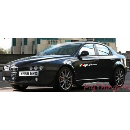 Alfa Romeo TriColore Sticker - 50 x 6cm Wit