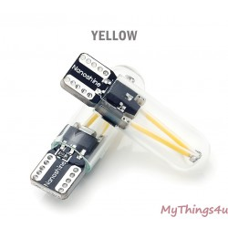 FILAMENT LED W5W (T10) YELLOW - 2 pieces
