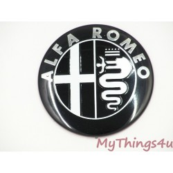 Alfa Romeo front-tail Emblem 74mm BLACK-WHITE DeLuxe