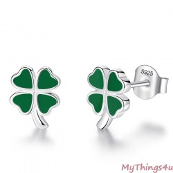 Stud Earrings QV Silver