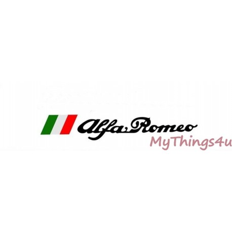 Alfa Romeo TriColore Sticker - 50 x 6cm Black