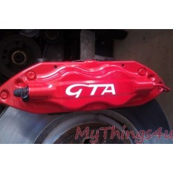 Brake Caliper Stickers GTA 100mm-75mm - WHITE