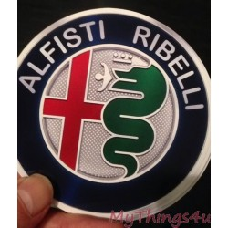 Sticker Alfisti Ribelli - 95mm