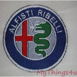 Emblem Alfisti Ribelli - embroidered - 95mm